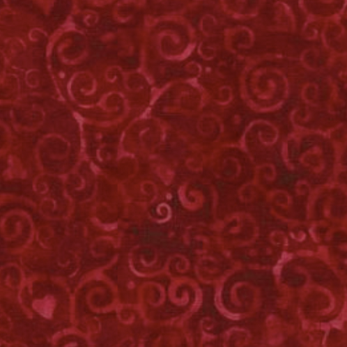 Island Batik Heart to Heart - Swirl Hearts Cherry