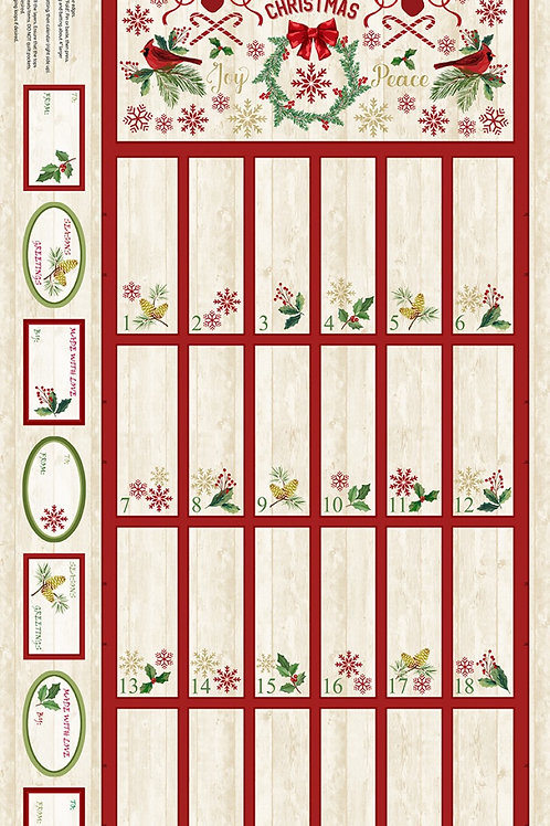 Comfort and Joy Advent Panel - Natural