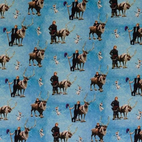 Disney Frozen Blue Fabric