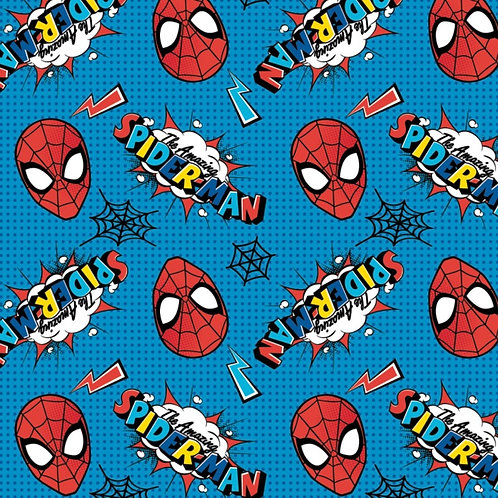 Marvel Kawaii Blue Spider-Man Fabric