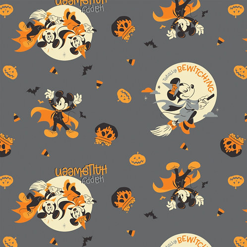 LP Disney Mickey and Minnie Mouse Bewitching Halloween Fabric