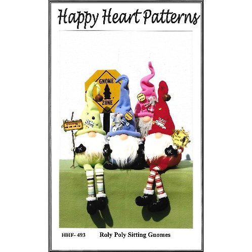 Roly Poly Sitting Gnomes Pattern