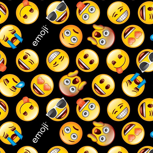 Black Emoji Fabric
