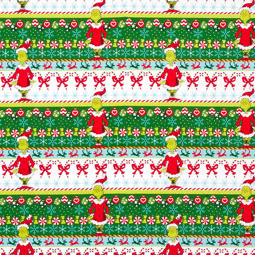 Dr. Seuss How the Grinch Stole Christmas Green Fabric