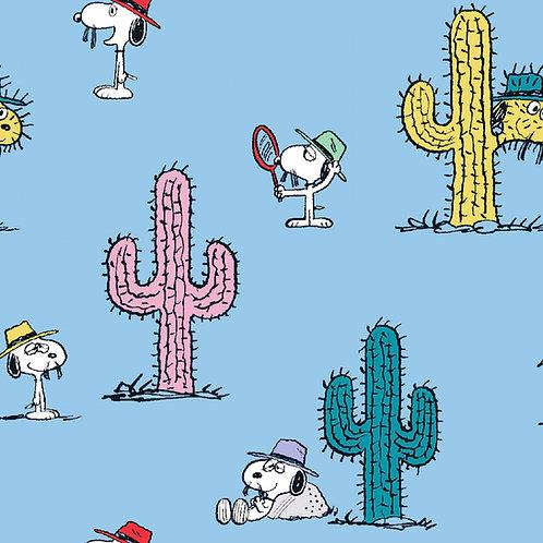 Peanuts Snoopy Cacti Fabric