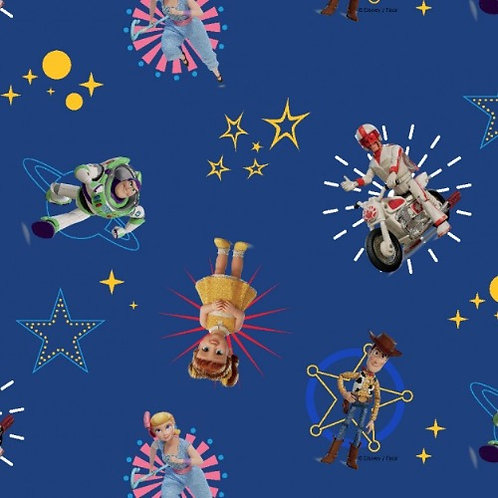 Disney Toy Story Characters Jersey Fabric