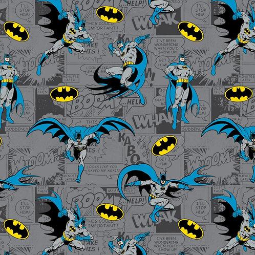 FLANNEL - Batman On Comics Fabric