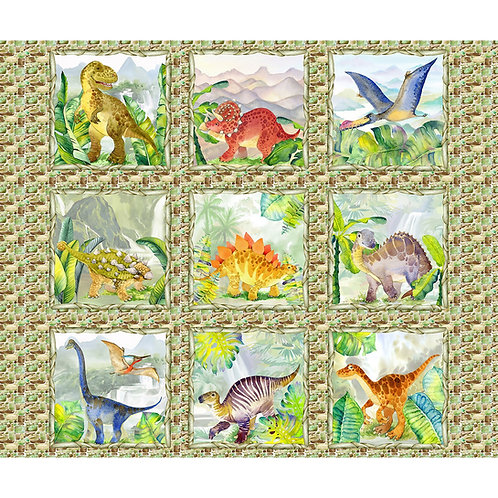Dino Friends Squares Panel