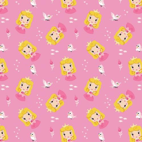 Disney Cute Aurora Toss Kawaii Floral Fabric