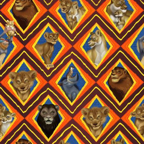 Lion King Character Mosaic Fabric
