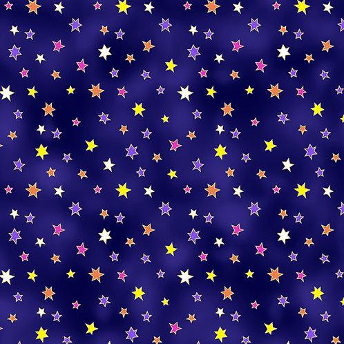 Laurel Burch Celestial Magic Indigo Stars Fabric