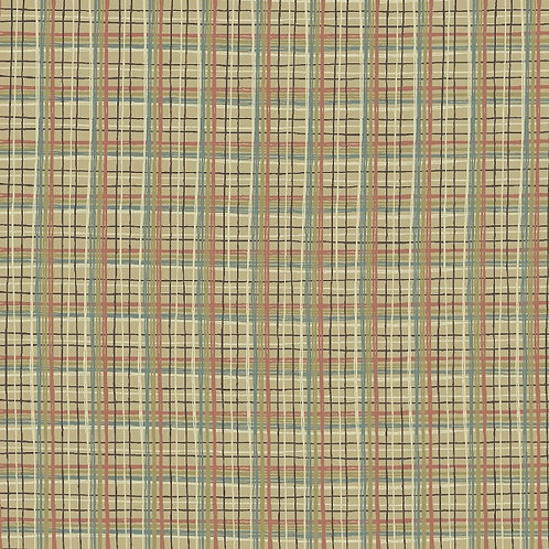 Anni Downs All For Christmas Sage Check Fabric