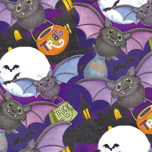Happy Haunting Bats Halloween Fabric
