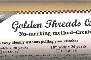 Golden Threads Quilting Paper 18in - 20yds