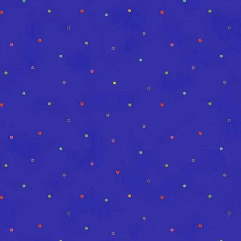 Laurel Burch Celestial Magic Dark Royal Dots with Metallic