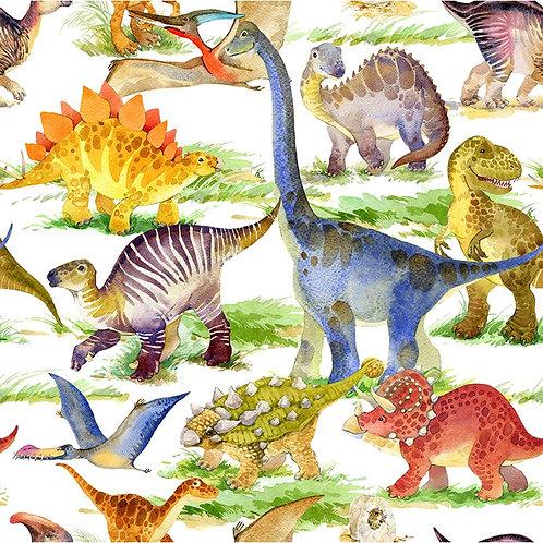 Dinosaur Friends Dino Allover Fabric