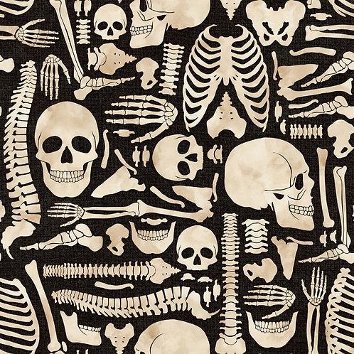 Boney Yard Halloween Fabric