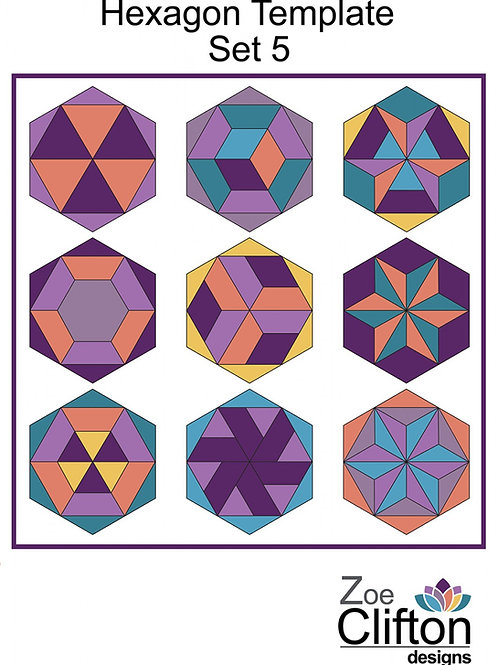 Hexagon Template Set no. 5