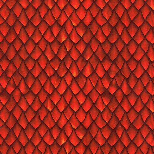 Red Dragon Scales Fabric
