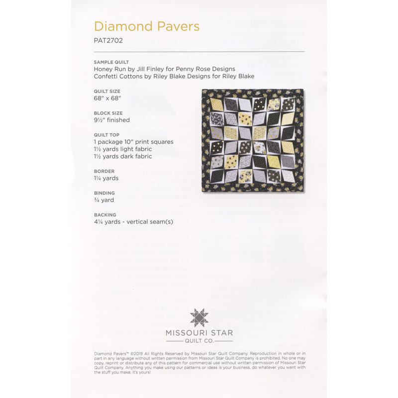 Missouri Star Diamond Pavers Quilt Pattern