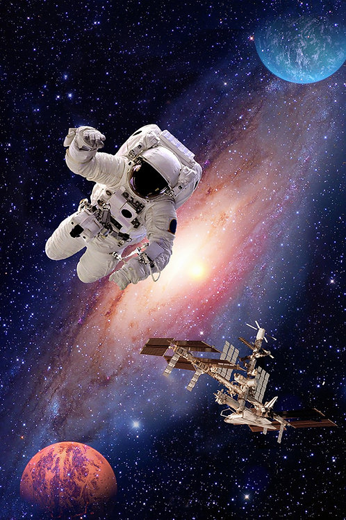 Interstellar Astronaut Panel 31 x 44in Panel