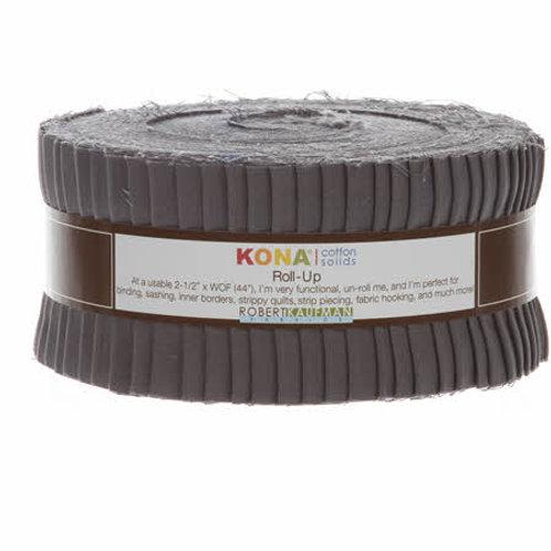 Robert Kaufman Coal Kona Solids Roll Up