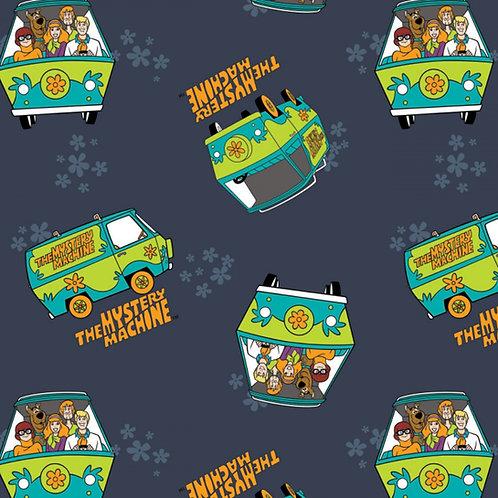 Scooby Doo Mystery Machine Fabric - Navy