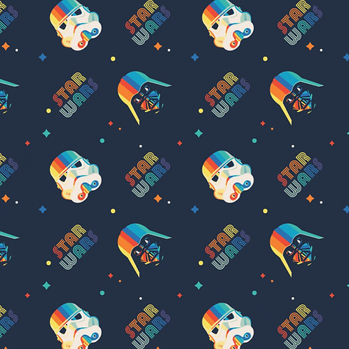 Star Wars Retro Darth Vader and Storm Troopers Fabric