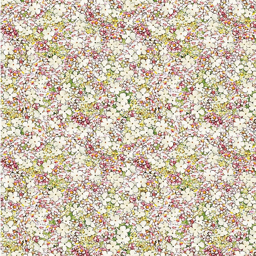 Songs of the Flower Fairies Cream Petite Princess Flower Fabric