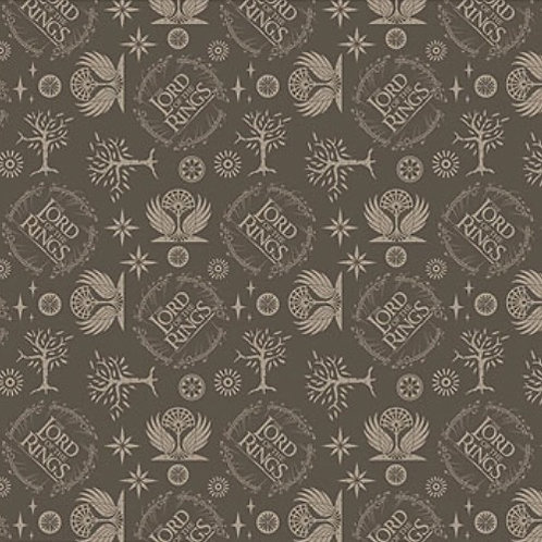 Lord of the Rings Logo Taupe Fabric