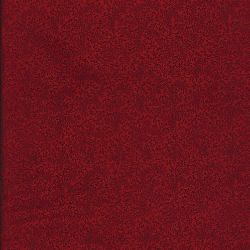 "Benartex 108"" Delicate Floral Vines Antique - Red"