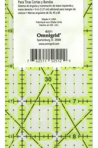 """Omnigrid Omnigrip 2.5"""" x 12.5"""" ruler"""