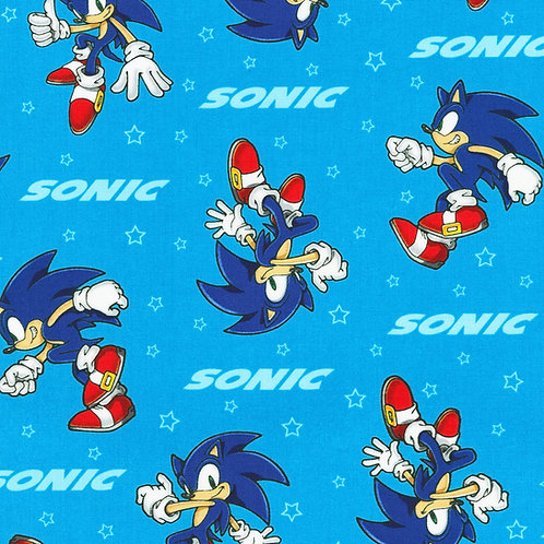 Sonic the hedgehog sonic fabric