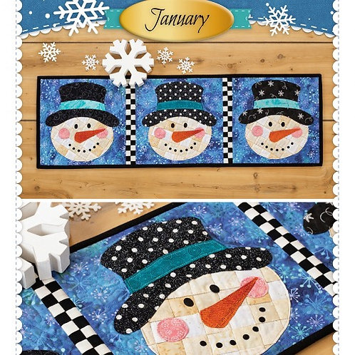 Patchwork Accent Table Runner January Pattern