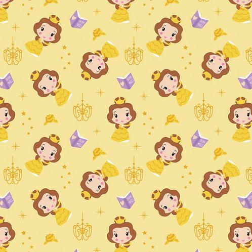 Disney Cute Belle Kawaii Floral Fabric