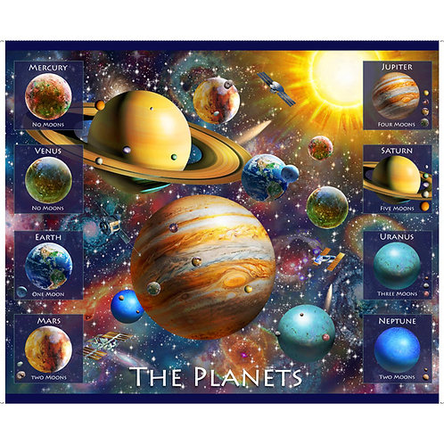 Quilting Treasures Planets Panel Fabric