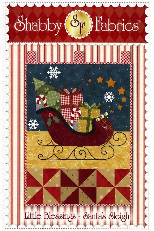 Little Blessings - Santa's Sleigh Wall Hanging Pattern
