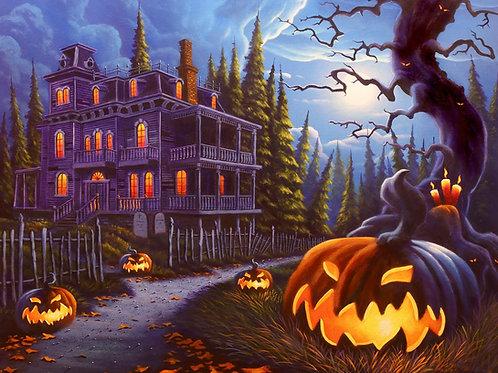 Jack-O-Lantern Lane Halloween Panel
