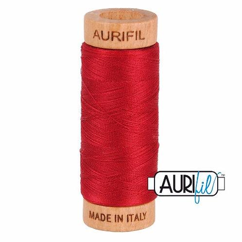 Aurifil 80 280m 2260 Red Wine Cotton Thread