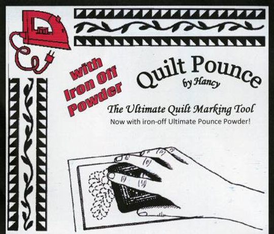 Ultimate Pounce Powder Pad For Quilt Stencils White
