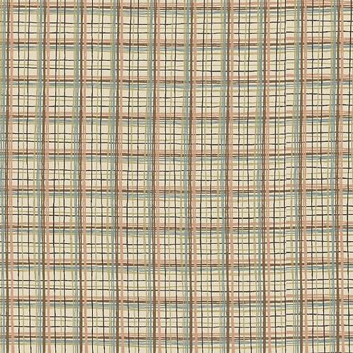 Anni Downs All For Christmas Cream Check Fabric