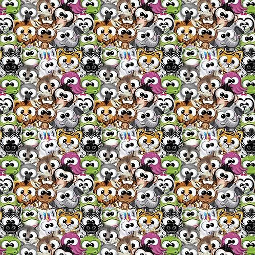 Cute Plush Amimals Multi Fabric
