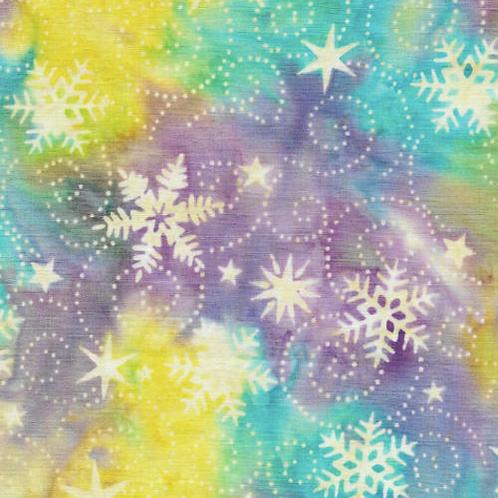 Island Batik Wonderland - Snowflake Aurora