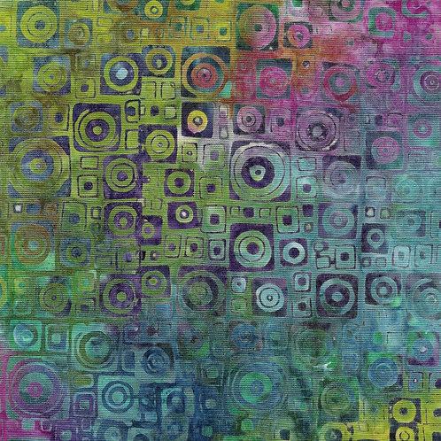 Island Batik Mystery - Square Circles Mardi