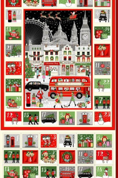 London Christmas 2021 Advent Calendar Panel