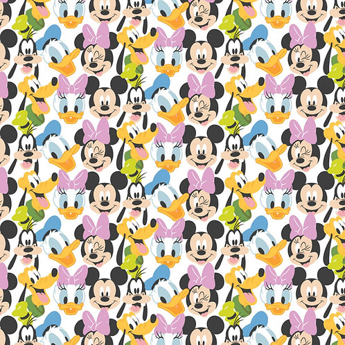 Disney Mickey Mouse Here Comes the Fun Fabric