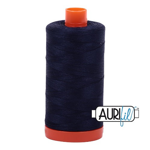 Aurifil 50 1300m 2785 Very Dark Navy Cotton Thread