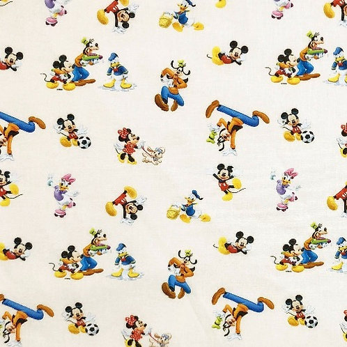 Disney Mickey and Friends Play Out Fabric