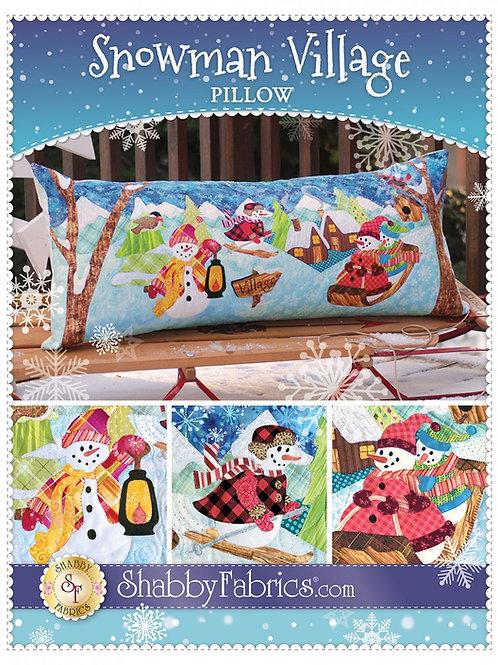 Snowman Village Pillow Pattern