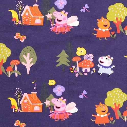 Jersey - Navy Peppa Pig Fabric